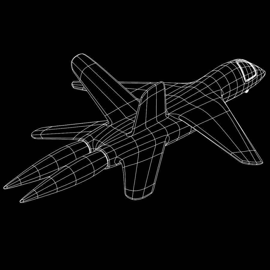 Jet Plane royalty-free 3d model - Preview no. 8