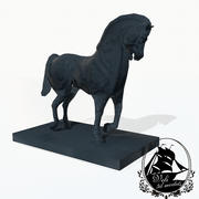 马雕像 3d model