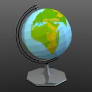 низкополигональный глобус (игра готова) 3d model
