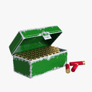 MTM 50 Round Ammo/Ammunition Bullet Box Scratched 3d model