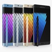 삼성 Galaxy Note 7 모든 색상 3d model