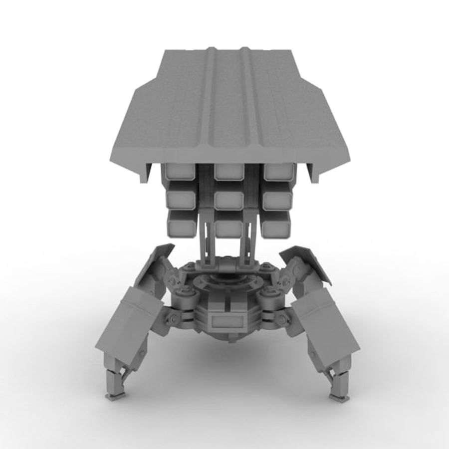 Walker Rocket Launcher royalty-free 3d model - Preview no. 14