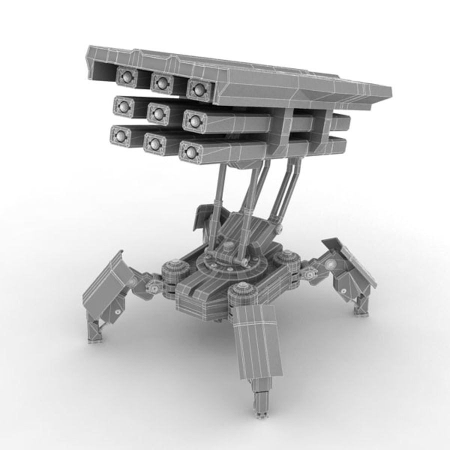 Walker Rocket Launcher royalty-free 3d model - Preview no. 19