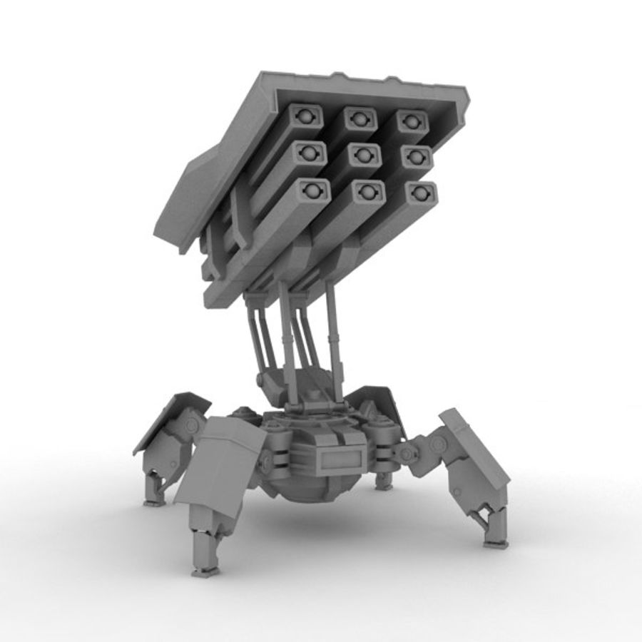 Walker Rocket Launcher royalty-free 3d model - Preview no. 15