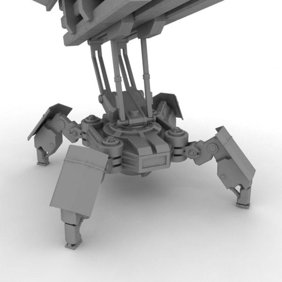 Walker Rocket Launcher royalty-free 3d model - Preview no. 16