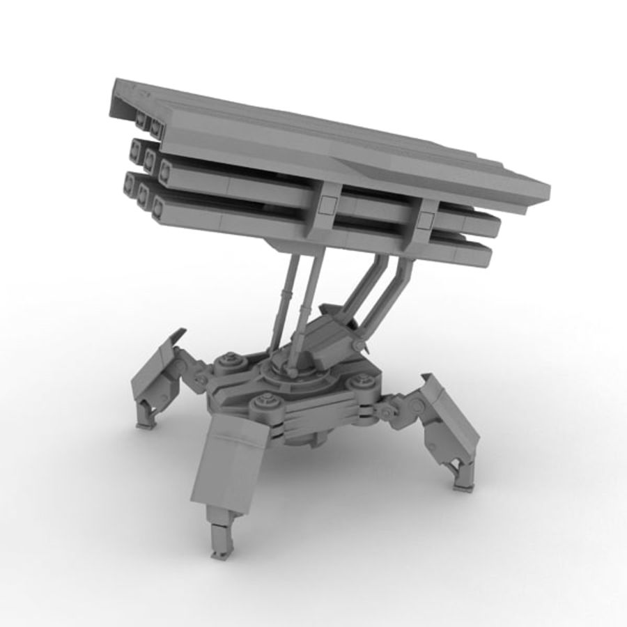Walker Rocket Launcher royalty-free 3d model - Preview no. 13