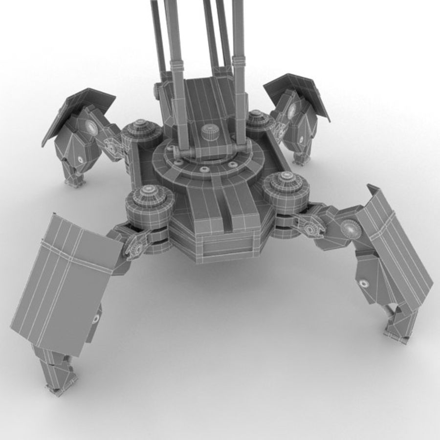 Walker Rocket Launcher royalty-free 3d model - Preview no. 24