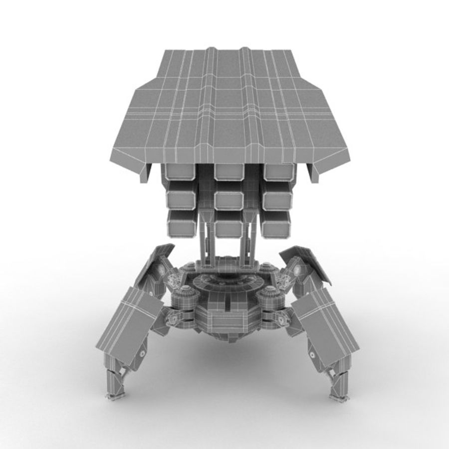 Walker Rocket Launcher royalty-free 3d model - Preview no. 21