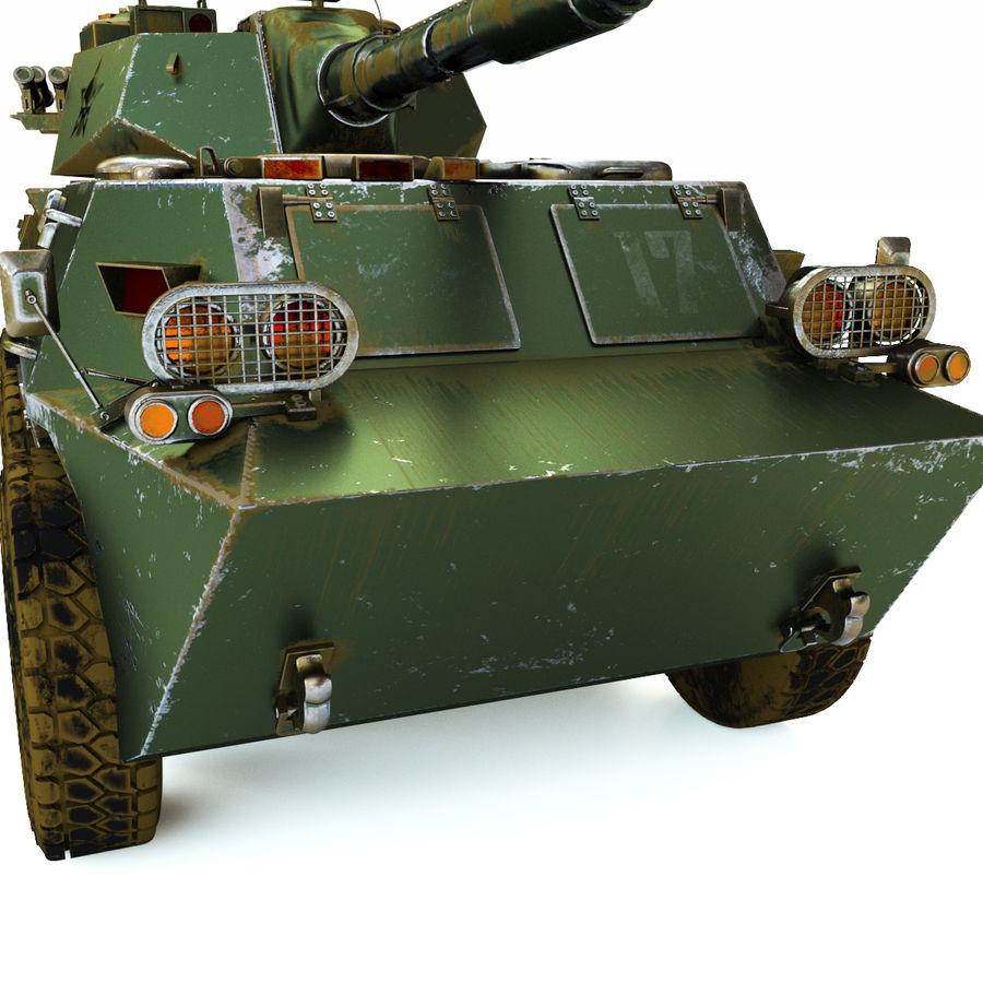 Niszczyciel czołgów PTL02 V1 royalty-free 3d model - Preview no. 5