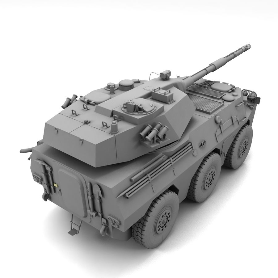 Niszczyciel czołgów PTL02 V1 royalty-free 3d model - Preview no. 20