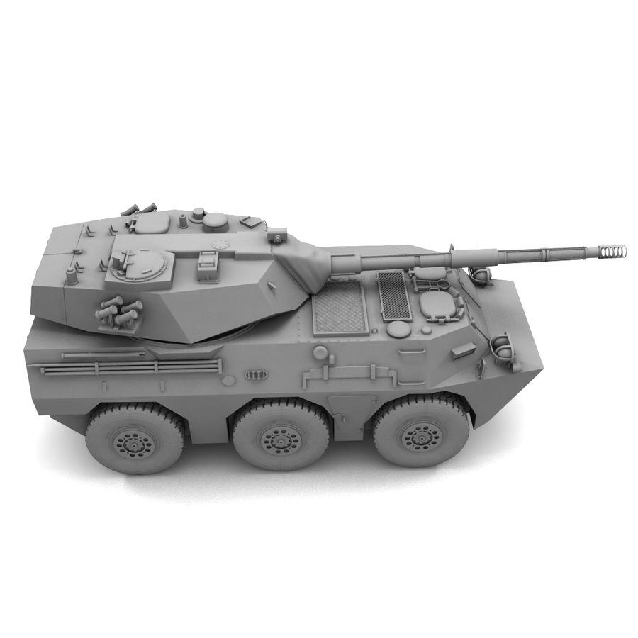 Niszczyciel czołgów PTL02 V1 royalty-free 3d model - Preview no. 24