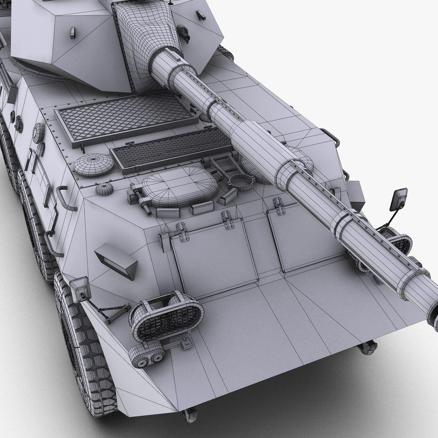 Niszczyciel czołgów PTL02 V1 royalty-free 3d model - Preview no. 36