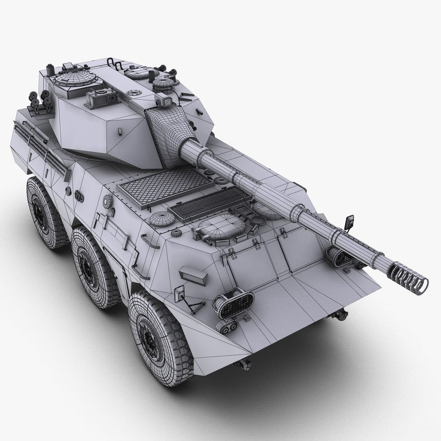 Niszczyciel czołgów PTL02 V1 royalty-free 3d model - Preview no. 31