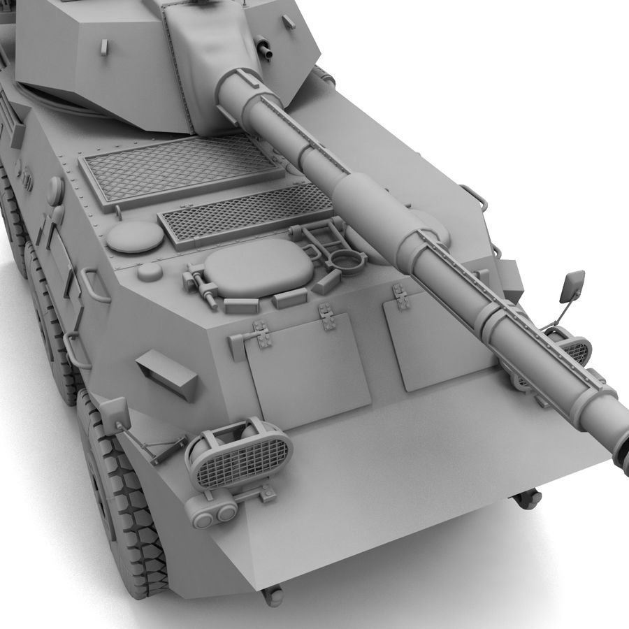 Niszczyciel czołgów PTL02 V1 royalty-free 3d model - Preview no. 23