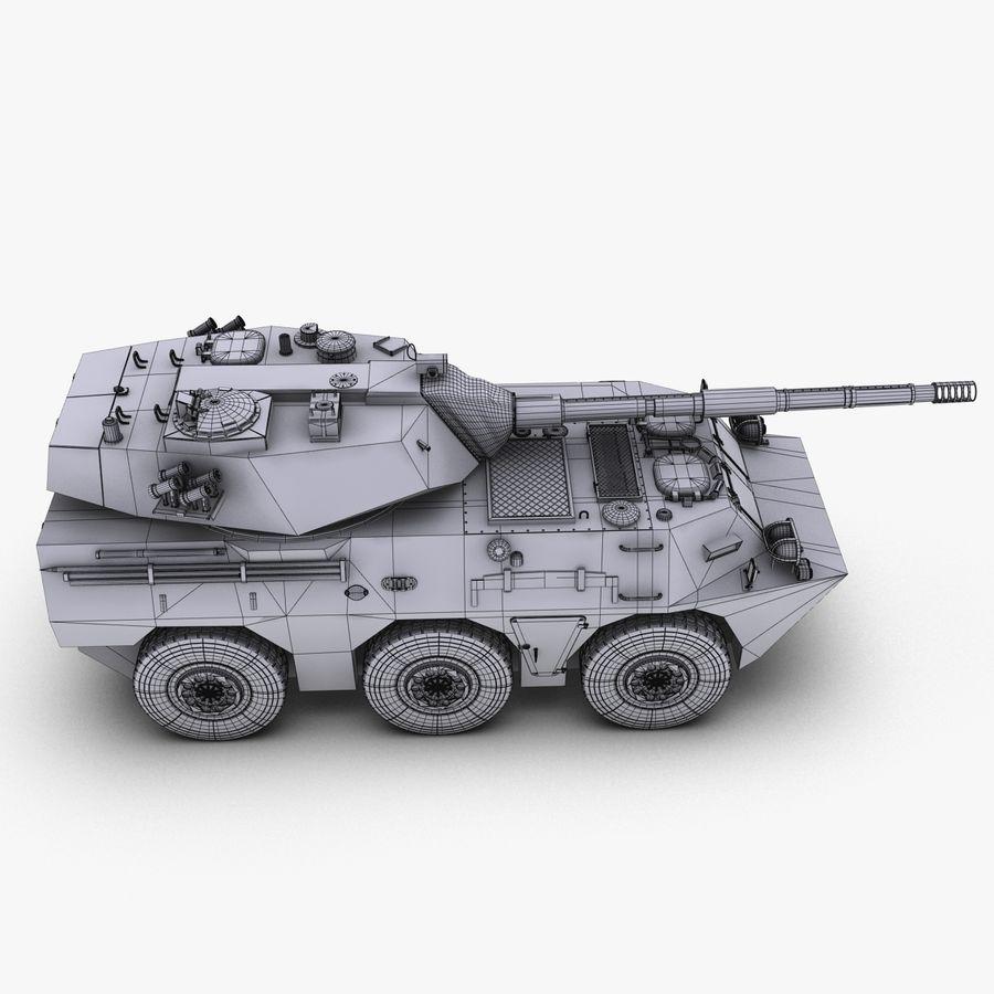 Niszczyciel czołgów PTL02 V1 royalty-free 3d model - Preview no. 37