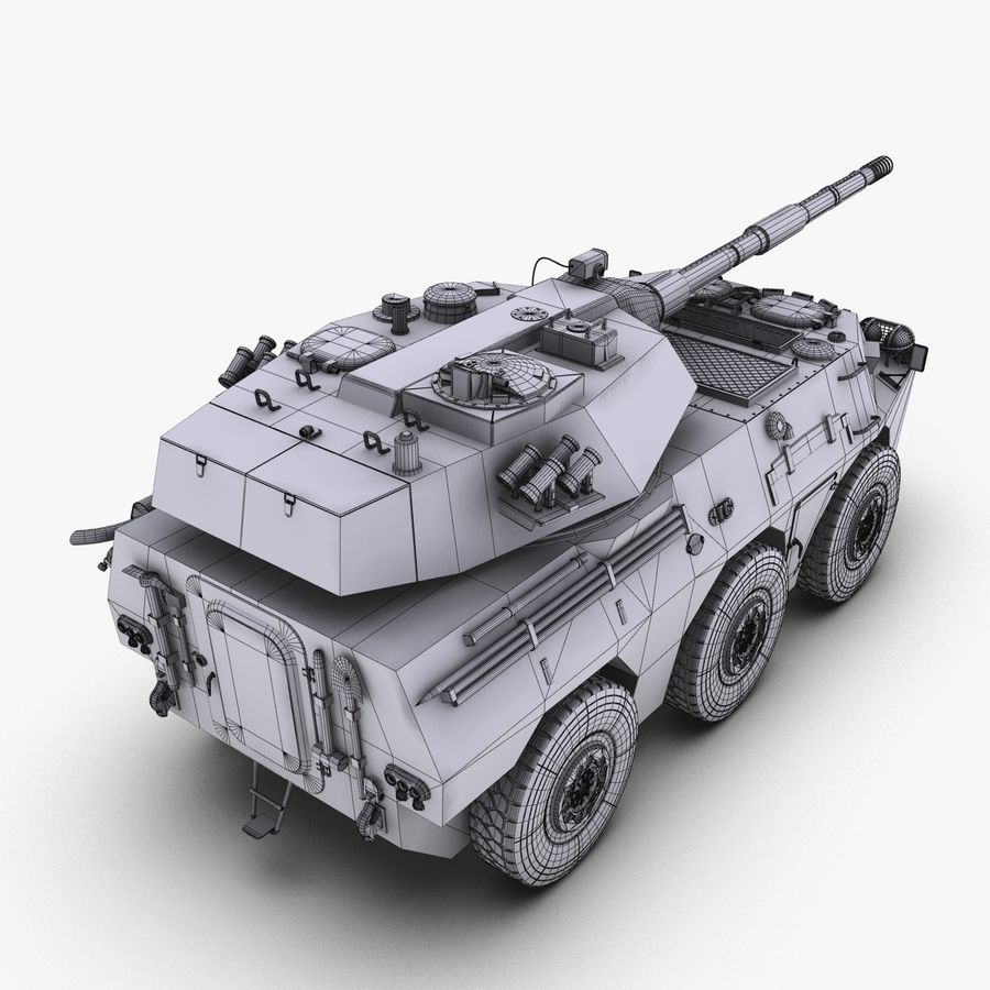 PTL02 Tank Destroyer V1 royalty-free 3d model - Preview no. 33