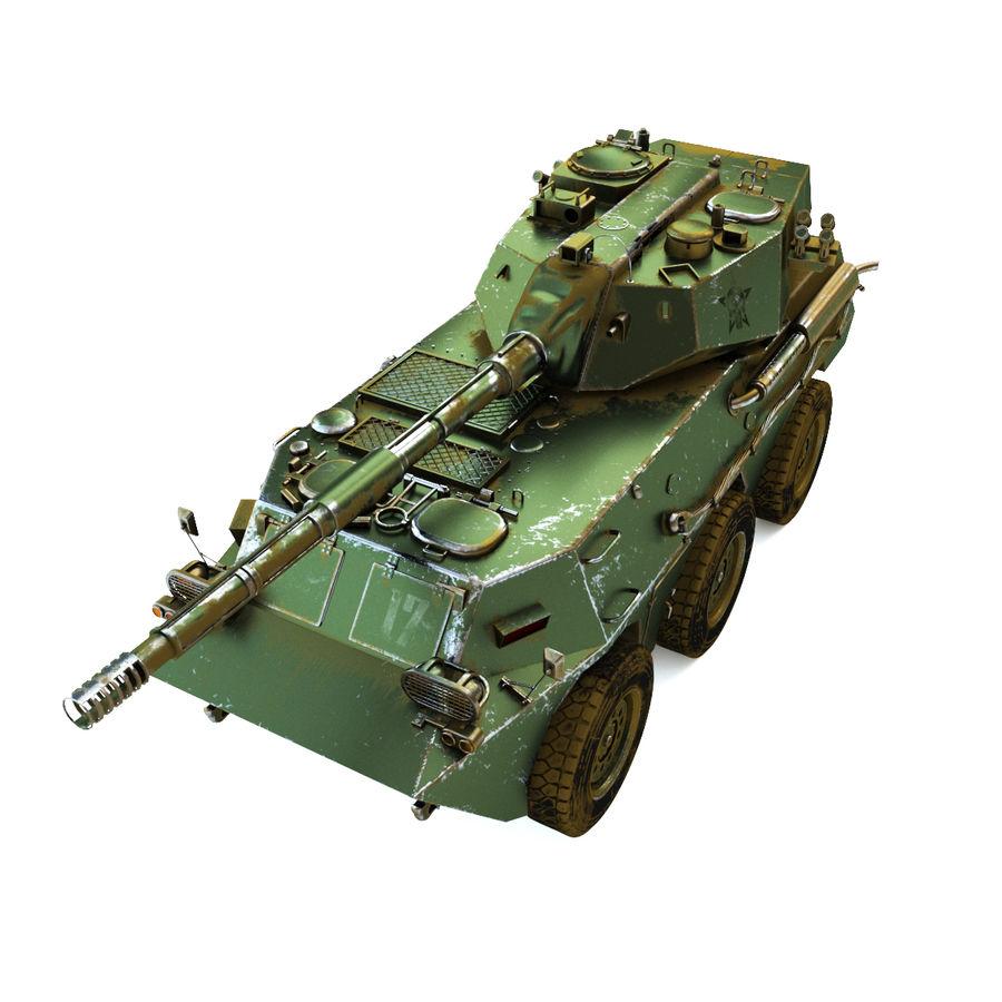 Niszczyciel czołgów PTL02 V1 royalty-free 3d model - Preview no. 1