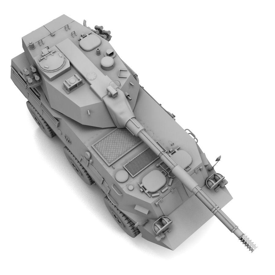 Niszczyciel czołgów PTL02 V1 royalty-free 3d model - Preview no. 19