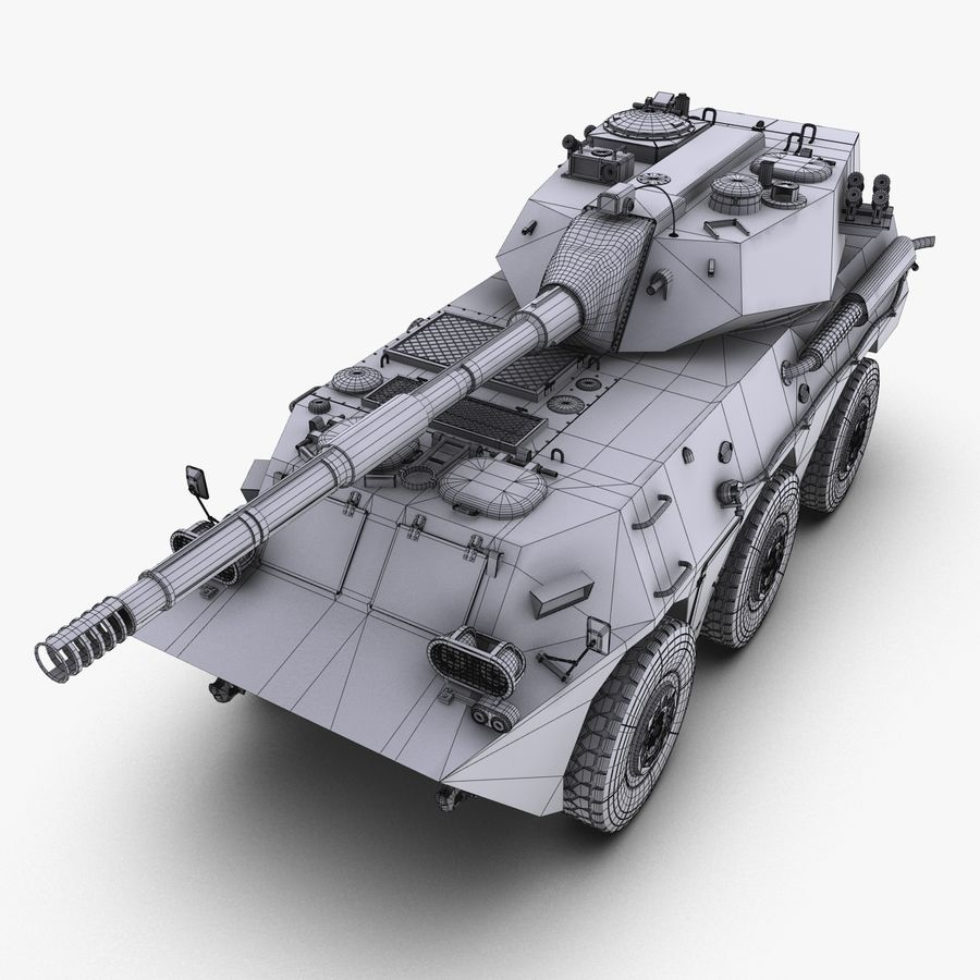 Niszczyciel czołgów PTL02 V1 royalty-free 3d model - Preview no. 26