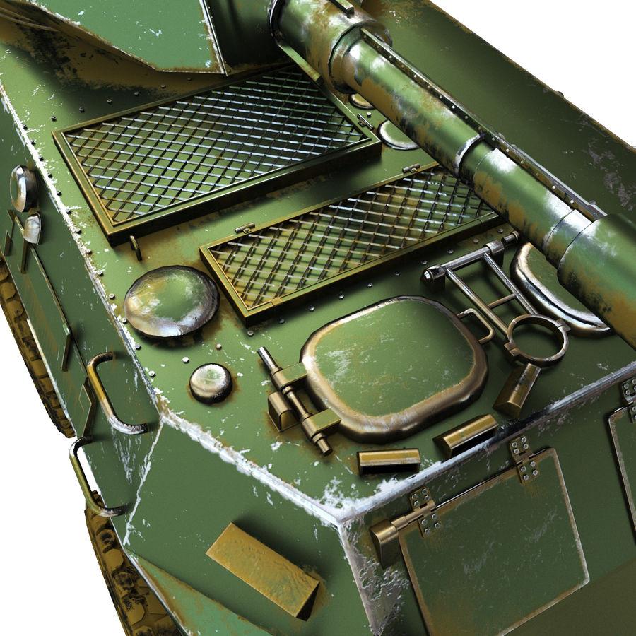 Niszczyciel czołgów PTL02 V1 royalty-free 3d model - Preview no. 4