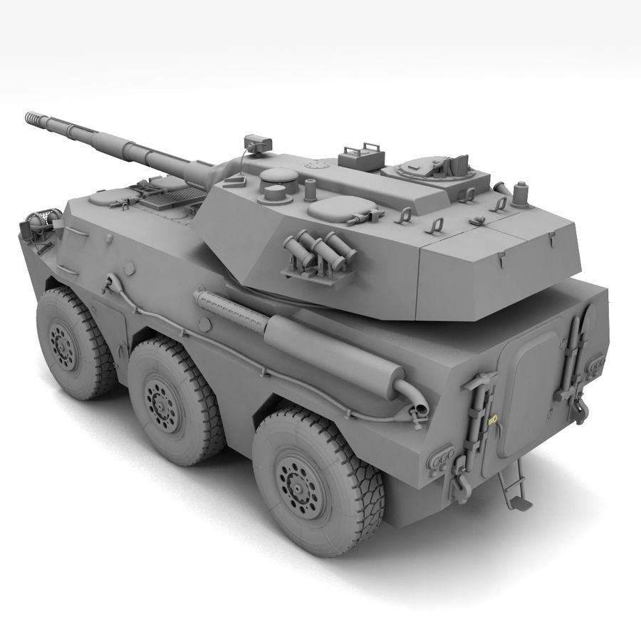 Niszczyciel czołgów PTL02 V1 royalty-free 3d model - Preview no. 21