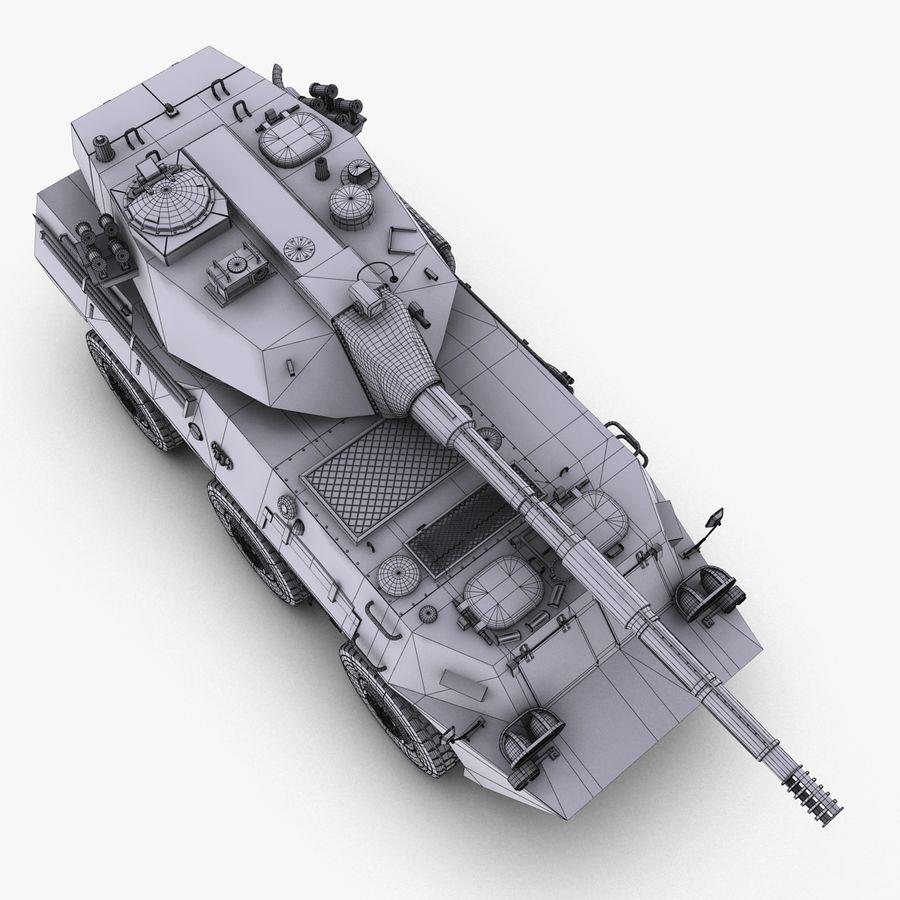 Niszczyciel czołgów PTL02 V1 royalty-free 3d model - Preview no. 32
