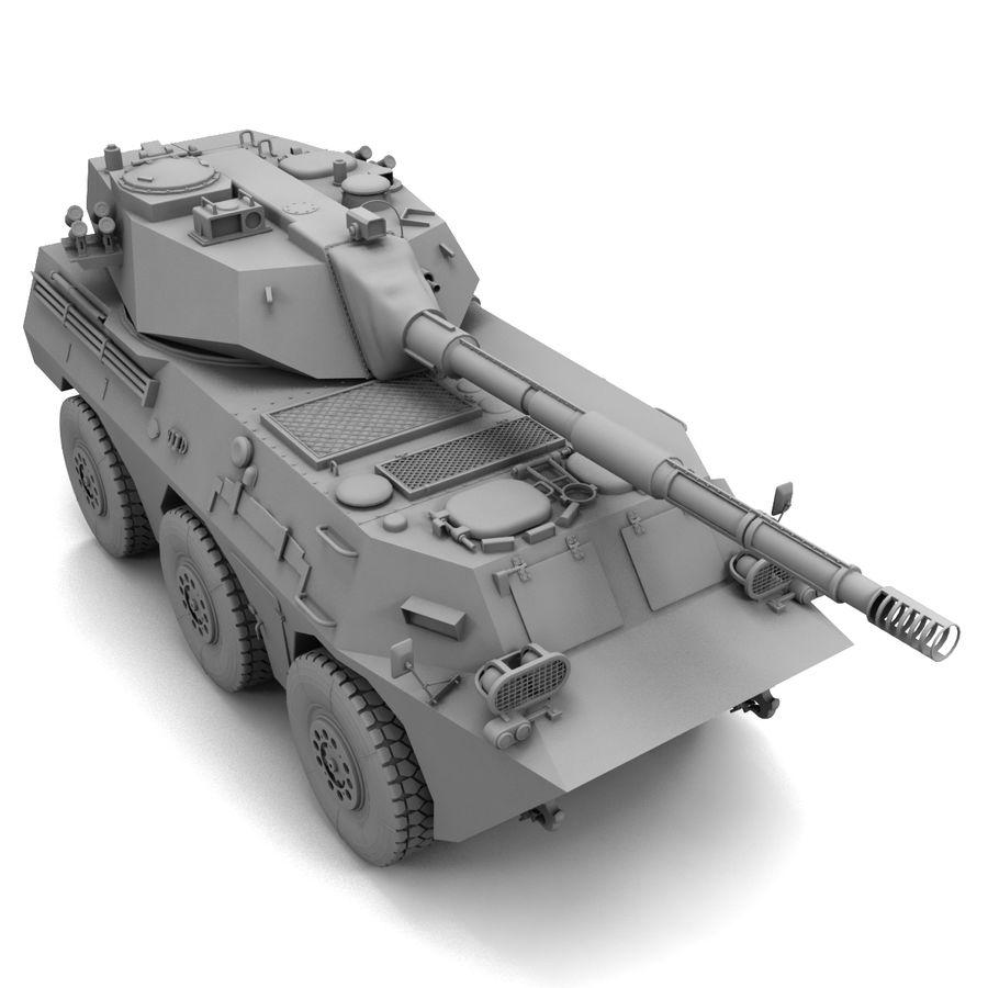 Niszczyciel czołgów PTL02 V1 royalty-free 3d model - Preview no. 18