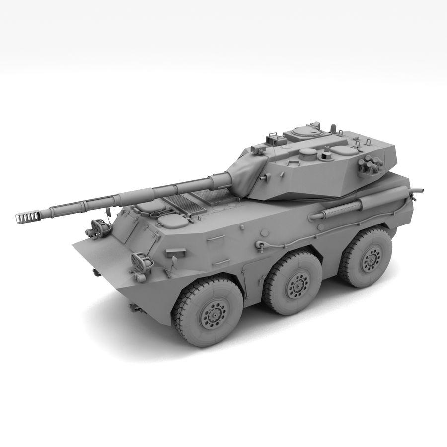 Niszczyciel czołgów PTL02 V1 royalty-free 3d model - Preview no. 15