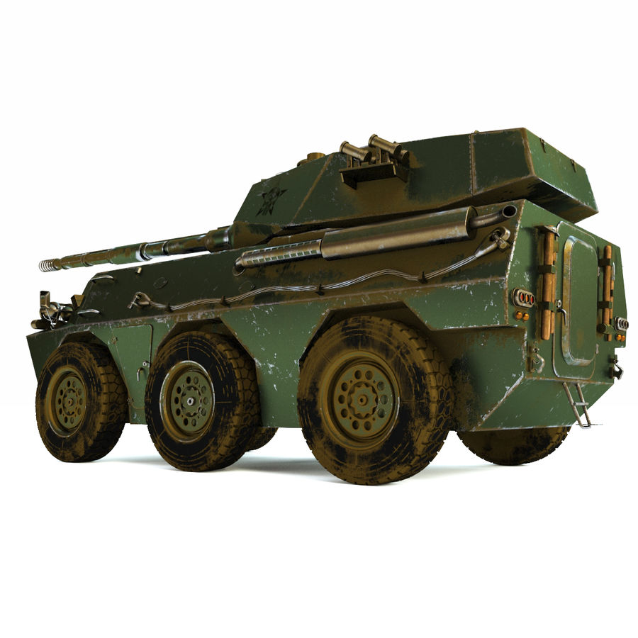 Niszczyciel czołgów PTL02 V1 royalty-free 3d model - Preview no. 9