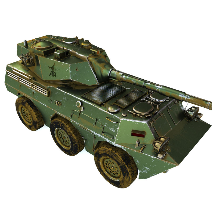 Niszczyciel czołgów PTL02 V1 royalty-free 3d model - Preview no. 2
