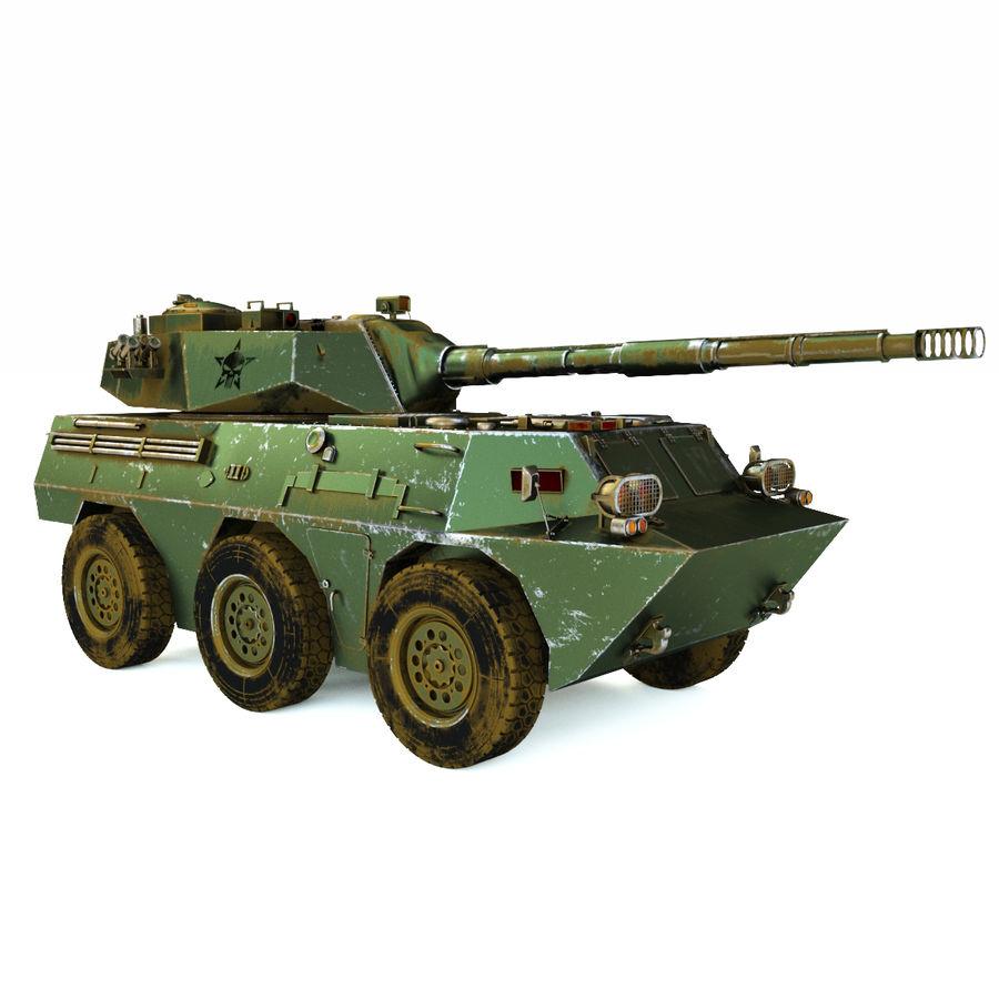 Niszczyciel czołgów PTL02 V1 royalty-free 3d model - Preview no. 7