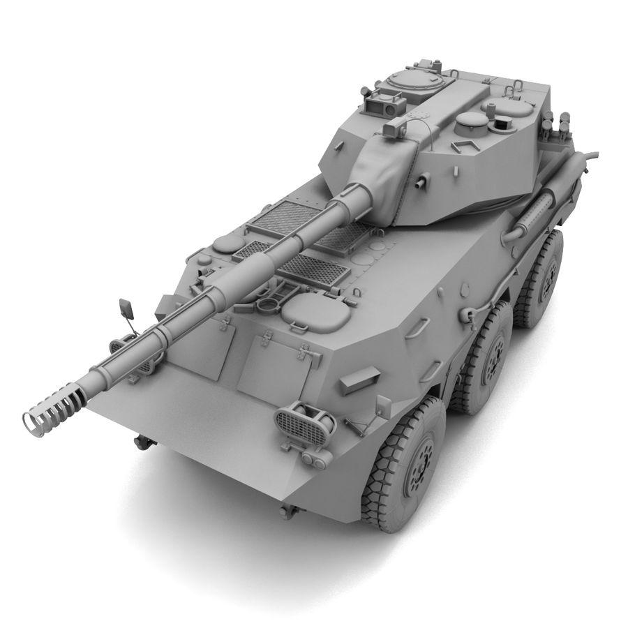 Niszczyciel czołgów PTL02 V1 royalty-free 3d model - Preview no. 14