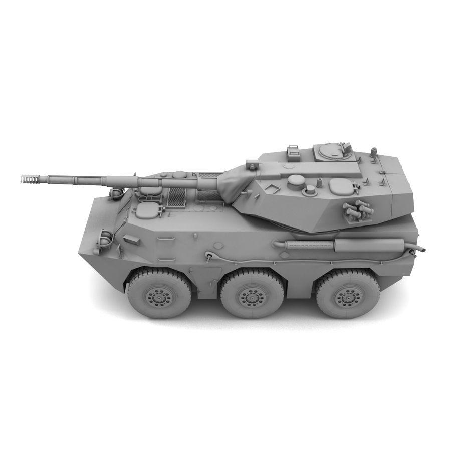Niszczyciel czołgów PTL02 V1 royalty-free 3d model - Preview no. 25