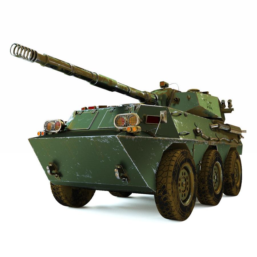 Niszczyciel czołgów PTL02 V1 royalty-free 3d model - Preview no. 8