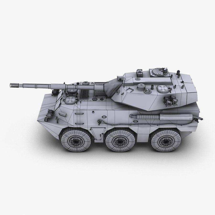 Niszczyciel czołgów PTL02 V1 royalty-free 3d model - Preview no. 27