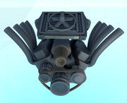 Simple V8 engine 3d model