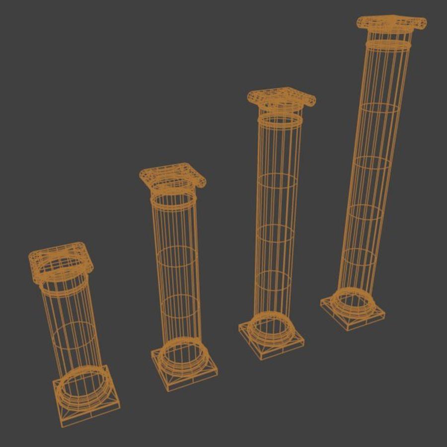 Ancient Pillar royalty-free 3d model - Preview no. 7