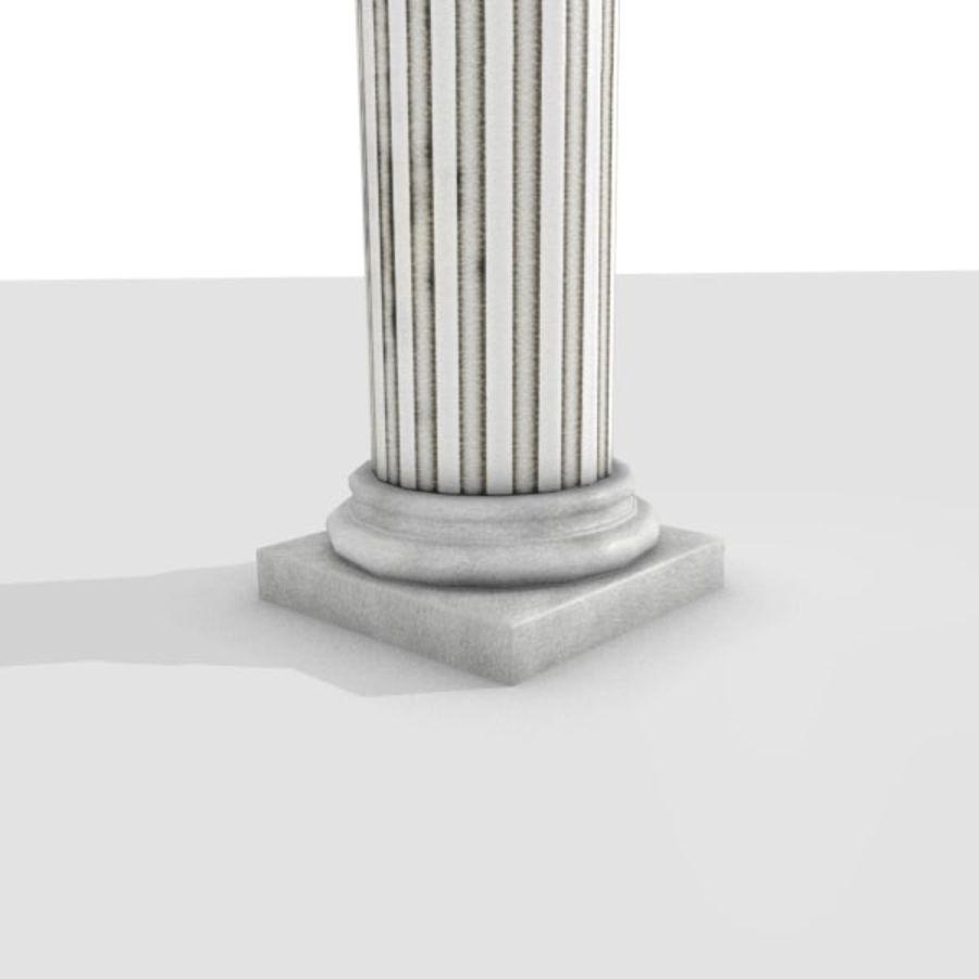 Ancient Pillar royalty-free 3d model - Preview no. 3