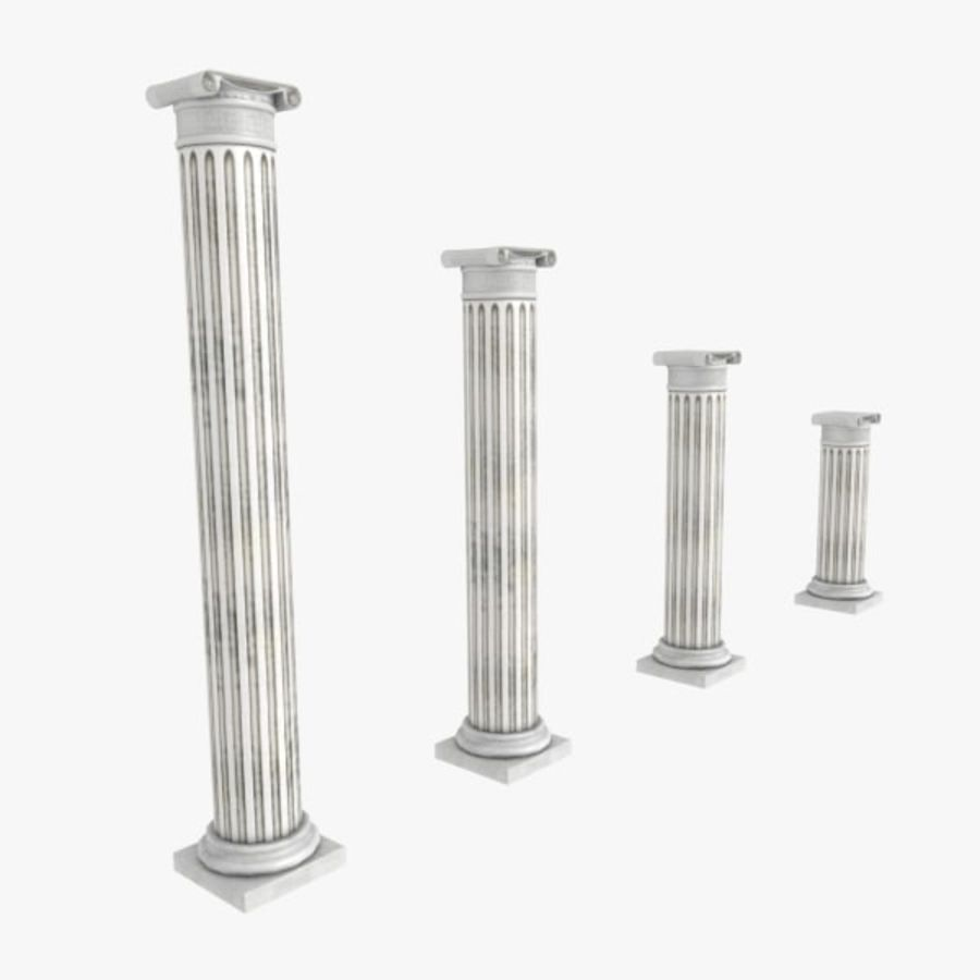 Ancient Pillar royalty-free 3d model - Preview no. 1