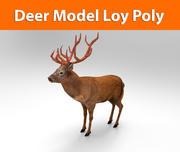 Modelo pronto para jogo de baixo poli de veado 3d model