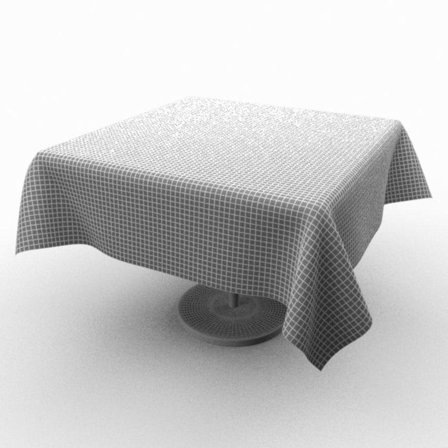 Masa örtüsü ile klasik ahşap masa royalty-free 3d model - Preview no. 5