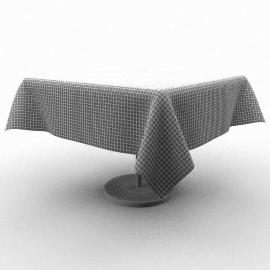 Masa örtüsü ile klasik ahşap masa royalty-free 3d model - Preview no. 4
