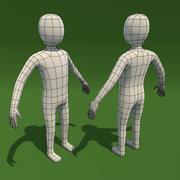 Malha de base de homem dos desenhos animados 3d model