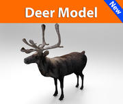 deer low poly game ready 3d model