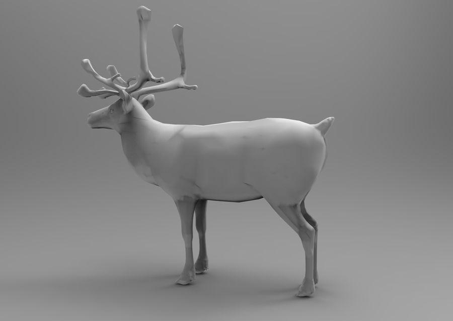 rådjur låg poly spel redo royalty-free 3d model - Preview no. 14