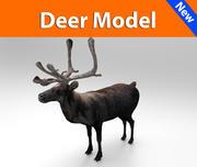 사슴 낮은 폴리 게임 준비 3d model