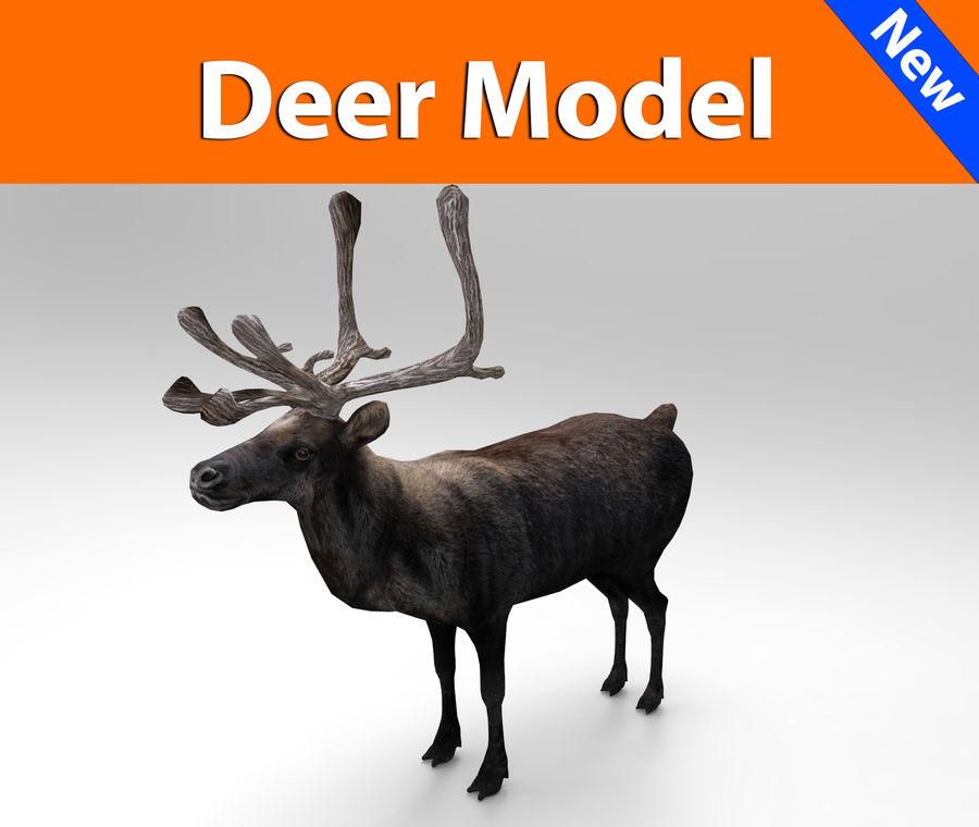 rådjur låg poly spel redo royalty-free 3d model - Preview no. 1