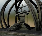 Trono Steampunk 3d model