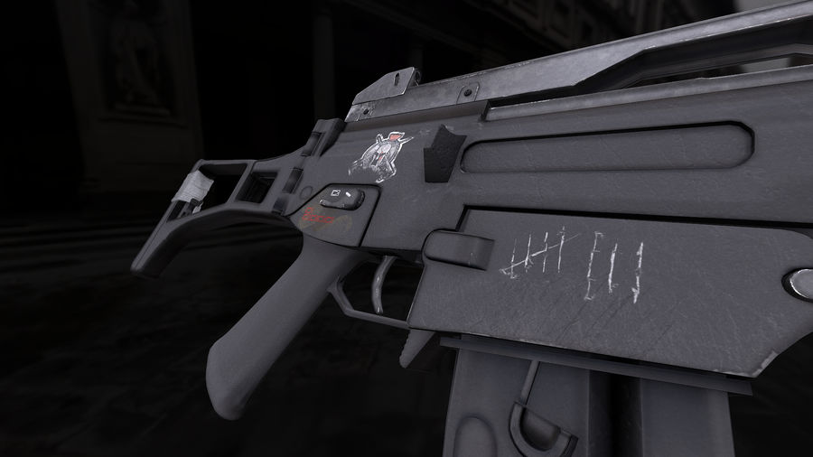 Rifle de asalto G36C royalty-free modelo 3d - Preview no. 3