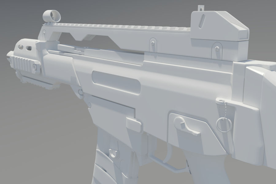 Rifle de asalto G36C royalty-free modelo 3d - Preview no. 7